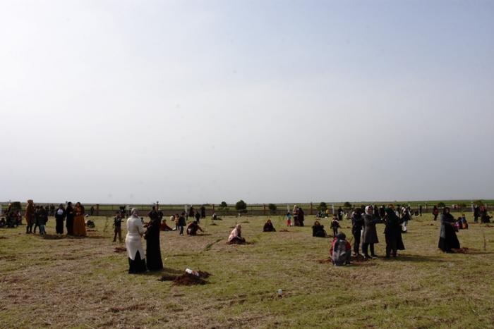 Nusaybin'de Hastane bahçesinde Hatıra Ormanı oluşturuldu