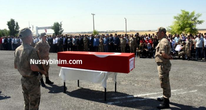 Nusaybin'de şehit asker için tören düzenlendi