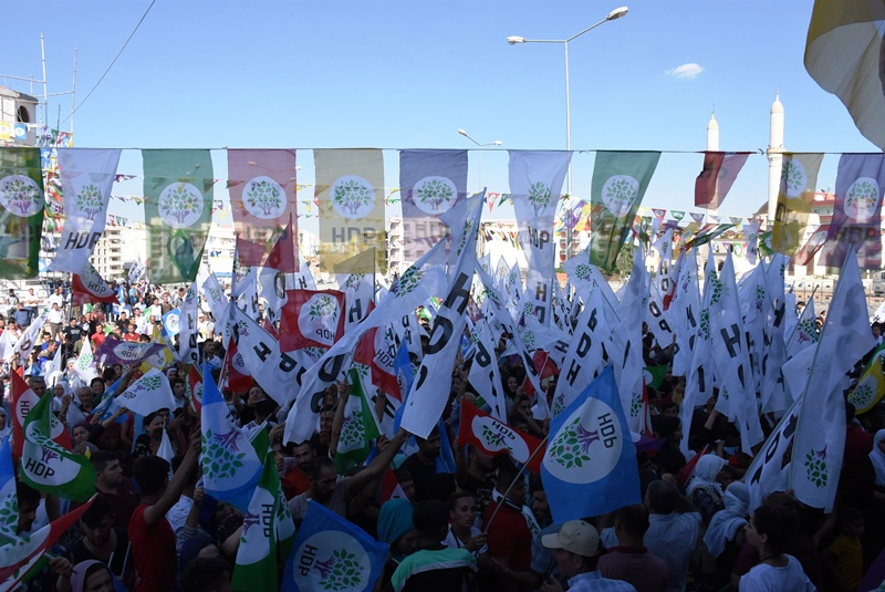 HDP Nusaybin'de miting düzenledi