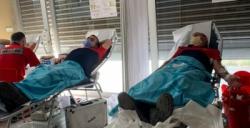 Nusaybin'de İtfaiyecilerden kan bağışına destek