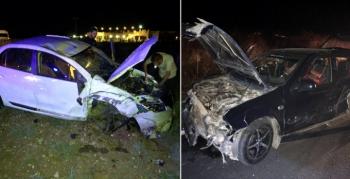 Nusaybin'de trafik kazası, 4 yaralı