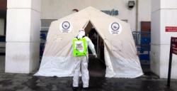 Nusaybin Devlet Hastanesi girişine Triyaj çadırı kuruldu