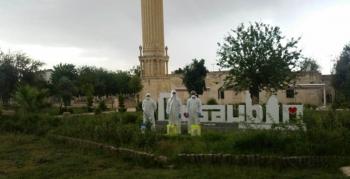 Nusaybin'de camiler dezenfekte edildi