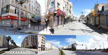 Sokağa çıkma kısıtlamasında Nusaybin şehir merkezi / VİDEO