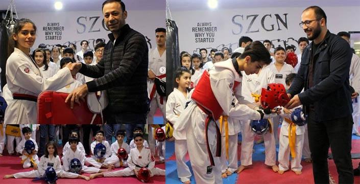 Belediyeden Taekwondo kulübüne malzeme desteği
