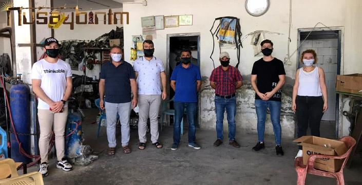 Sanayi ve Sebze Haline maske dağıtıldı