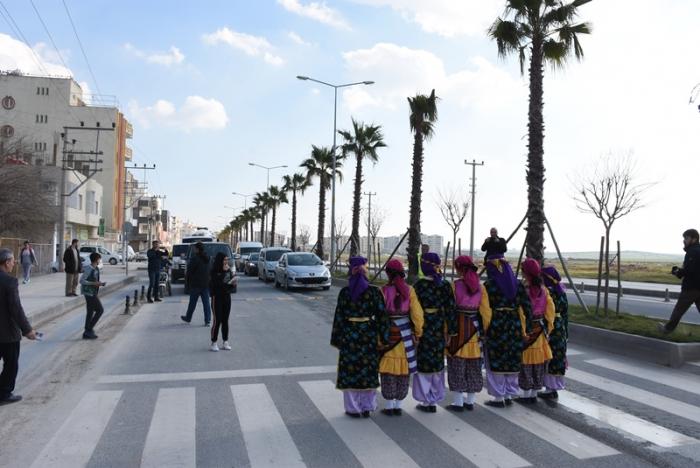Nusaybin'de yaya öncelikli trafik farkındalığı