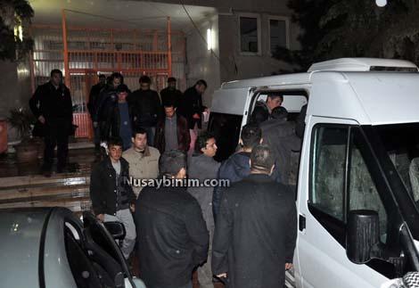 Mahkemeye çıkarılan 7 kişiden 5'şi tutuklandı