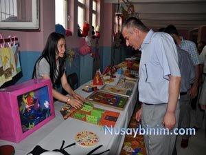 Nusaybin Kız Meslek Lisesinde yılsonu sergisi