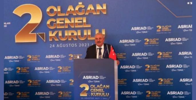 Adnan Danışman, ASRİAD Genel Başkanlığı'na yeniden seçildi