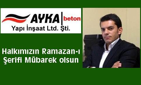 Ayka Beton'dan Ramazan ayı mesajı