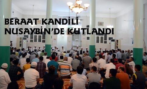 Beraat Kandili Nusaybin'de kutlandı