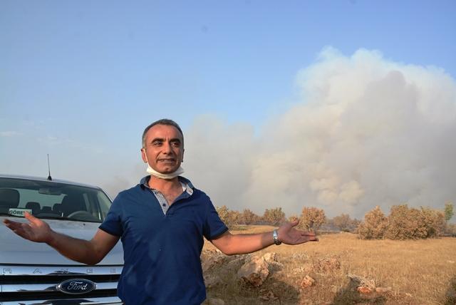 Nusaybin Bagok dağındaki ormanlık alanda yangın çıktı