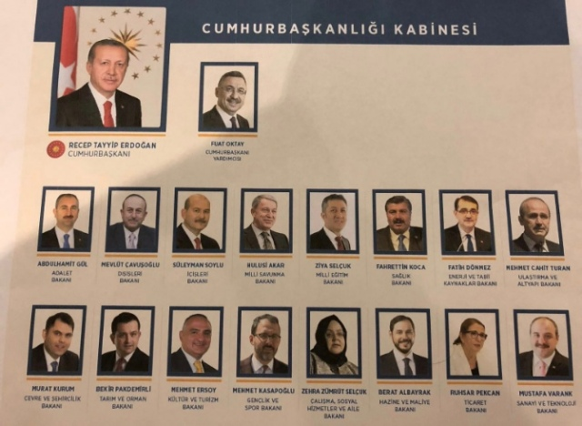 Cumhurbaşkanlığı Hükümet sisteminin ilk kabinesi açıklandı