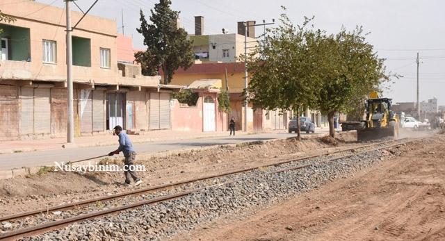 Nusaybin'de tarihi Demiryolu ıslah çalışmaları başladı