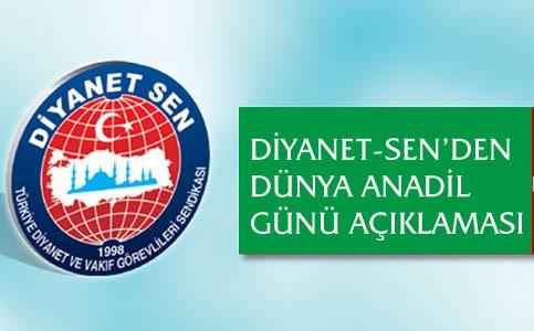 Diyanet-sen'den Dünya Anadil Günü açıklaması