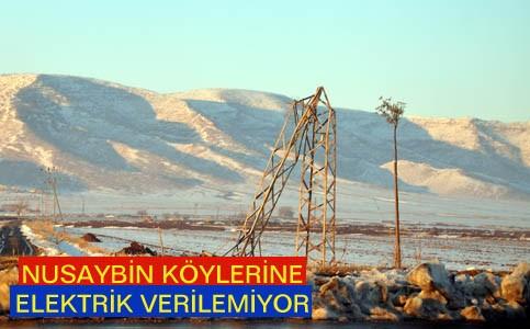 Nusaybin köylerine elektrik verilemiyor