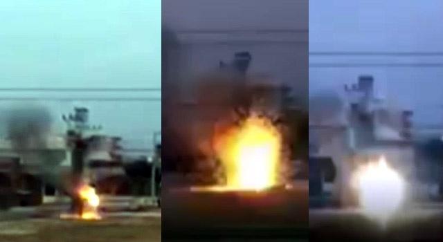Dicle Mahallesindeki trafo bomba gibi patladı