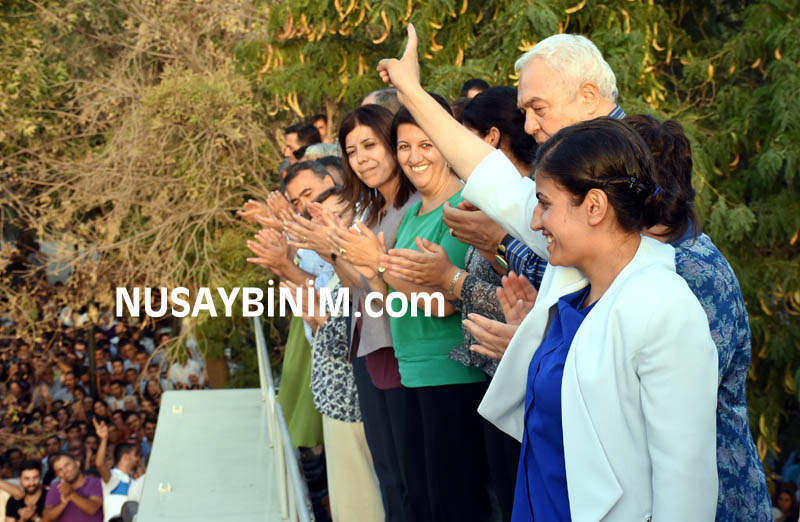 HDP Eş Genel Başkanı Demirtaş, Nusaybin'de