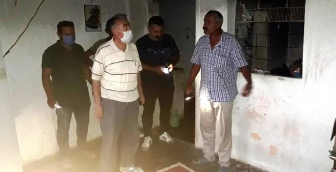 Evi yanan vatandaşa Nusaybin Kaymakamlığı yardım elini uzattı