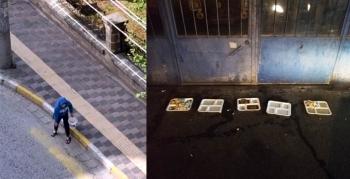 Hayvanlar için cadde ve sanayi sitesine yem bırakıldı