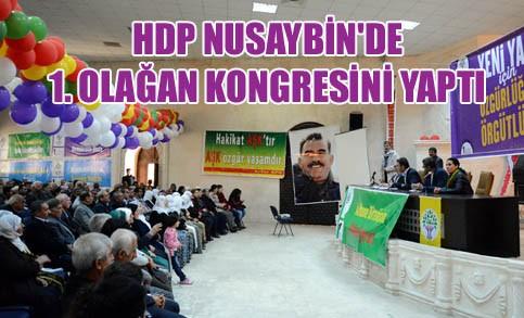 HDP Nusaybin'de 1. Olağan Kongresini yaptı