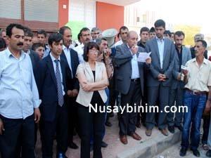 Nusaybin'den İran'a tepki yürüyüşü