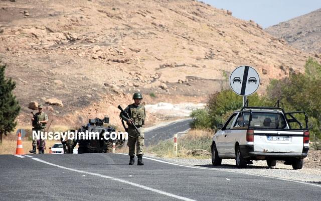 Nusaybin - Midyat yolu ulaşıma kapandı