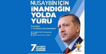 AK Parti Nusaybin'de kongreye gidiyor