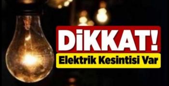 Akarsu Bölgesinde elektrik kesintisi olacak