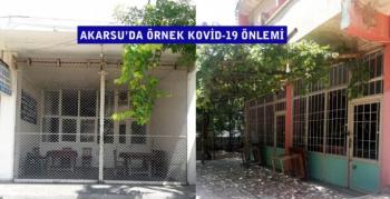 Akarsu'da örnek Kovid-19 önlemi, kahvehaneler 10 gün kapatıldı