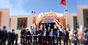 BakanSelçuk'un Mardin ziyaretindeNusaybin'de iki hayırseverin yaptırdığı okullar açıldı