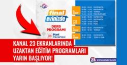 Final Okulları uzaktan eğitimleri Kanal 23'ten yayınlanacak