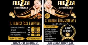 Frezza Güzellik Salonu 5. Yıla Özel Kampanyalar başlamıştır
