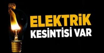 Girmeli Bölgesinde Pazartesi Günü elektrik kesintisi olacak