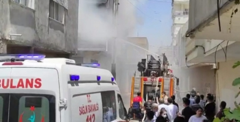 Hastane personelinin evi yangında küle döndü