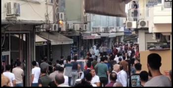 Kaçakçılar çarşısında alev alan elektrik panosu esnaf tarafından söndürüldü