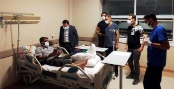 Kaymakam Kayabaşı, yaralanan belediye personelini ziyaret etti