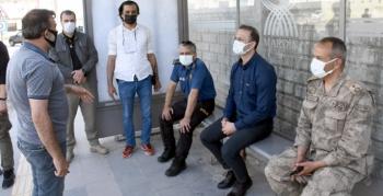 Kaymakam Yalçın, Nusaybin ilçe merkezinde denetimlerde bulundu
