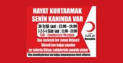 Kızılay Nusaybin'de kan bağışı alacak
