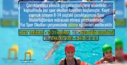 Nusaybin Belediyesi öğrenciler için ücretsiz yüzme kursu açıyor