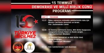 Nusaybin'de 15 Temmuz Programı düzenlenecek