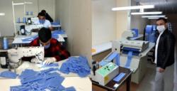 Nusaybin'de 3 katlı cerrahi maske üretimine başlandı