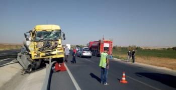 Nusaybin'de benzin yüklü tanker kaza yaptı, 1 yaralı