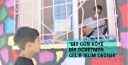 Nusaybin'de bir köy okulunda sıra dışı bir öğretmen