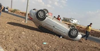 Nusaybin'de emniyet kemeri sürücünün hayatını kurtardı