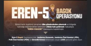 Nusaybin'de Eren-5 Bagok Operasyonu başladı
