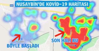 Nusaybin'de gün gün Kovid-19 yayılma haritası