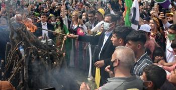 Nusaybin'de HDP tarafından Nevroz Bayramı etkinliği düzenlendi