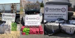 Nusaybin'de kaçakçılık operasyonunda 3 kişi gözaltına alındı